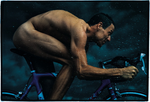 Lance Armstrong, photographed by Annie Leibovitz for the December 1999 issue of Vanity Fair.