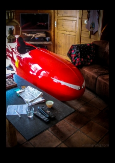 velomobile in our living room