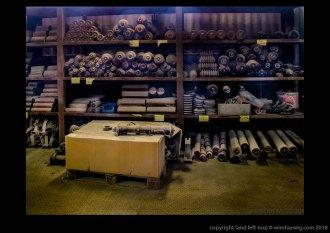 onder- en trogrollen in Sinterfabriek