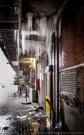 de betonbakken 's winters ...