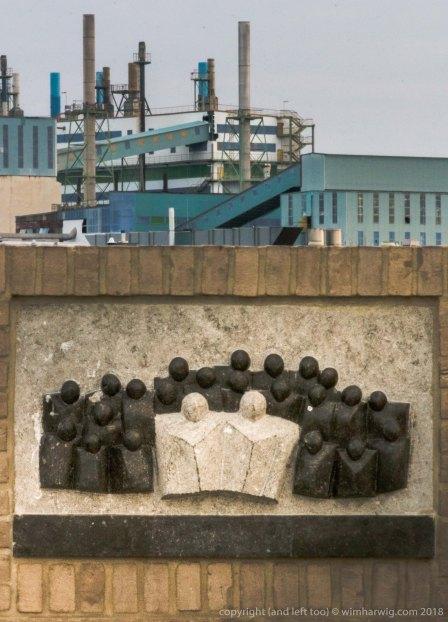 het monument ter herinnering aan het ongeluk waar Ton Witte en Ruud de Looff bij omkwamen.