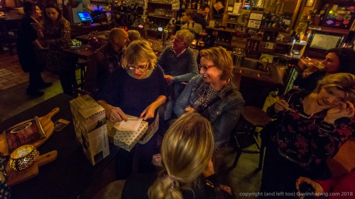 farewell meeting for Marjan's pension in a bar …