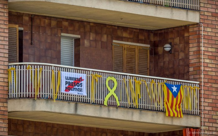 the background of discontent among the Catalans in Barcelona